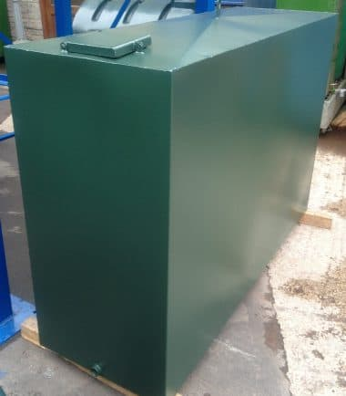 300 Gallon single skin steel oil tank