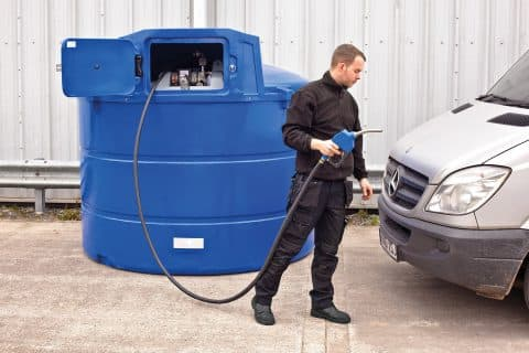 Adblue bunded dispensing tank